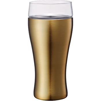 ドウシシャ ビールタンブラー ON℃ZONE (オンドゾーン) 飲みごこち 420ml ゴールド OZNB-420GD