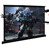 """HD Projector Screen, 3D Projector Screen, 40"""" 16:9 Floor-Standing Quick Pull Out Screen,with Excellent Waterproof and Anti-Cr"""
