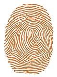 指印刷壁デカール 30
