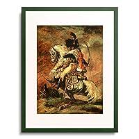 テオドール・ジェリコー Gericault, Theodore 「Officer of the Hussars on horseback. 1812/16」 額装アート作品