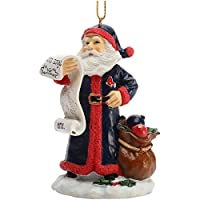 MLB Boston Red Sox Naughty/Nice List Santa Ornament, One Size, Multicolor