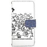 TeamS(チームエス) iPhone8 [i6] ケース 手帳型 スマホケース nbdn001b デニム メンズ かっこいい ホワイト カードタイプ