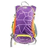 アウトドアプロダクツ (xuguozhu) アウトドア プロダクツ ディパック パックバッグ サイクリング 登山 キャンプ ハイキング トレッキング 通気システム ドリングチューブキッド 大容量 15L フィット感 パープル