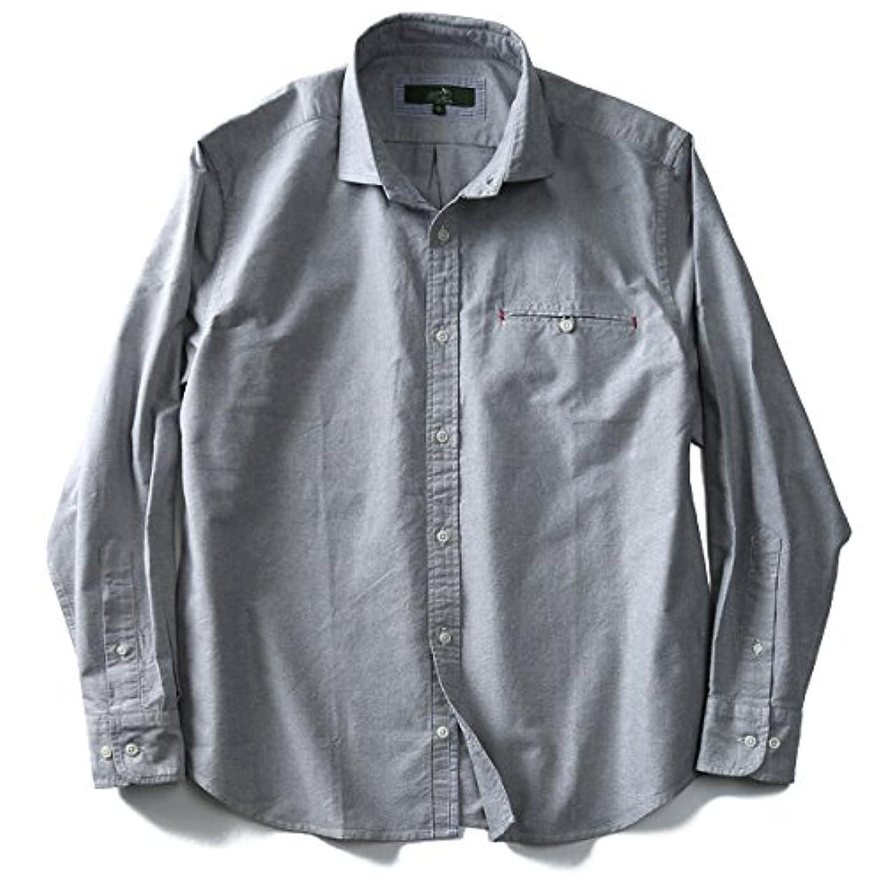 慣れる東ティモール圧力メンズ 長袖シャツ Bowerbirds Works ワイドカラーオックスフォードシャツ 大きいサイズ 全4色 2L~6L
