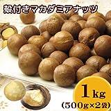 殻付きロースト マカダミアナッツ 1kg(500g×2袋)