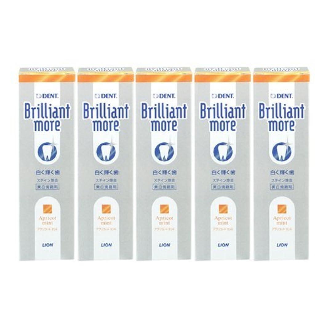 不和お風呂を持っているカセットライオン ブリリアントモア アプリコットミント 美白歯磨剤 LION Brilliant more 5本セット