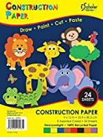 iScholar Construction Paper 9x12 Inches Assorted Colors 24 Sheets per Pack (30024) [並行輸入品]