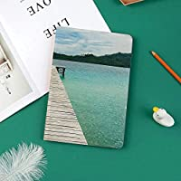 印刷者IPad Pro 11 ケースiPad Pro 11 カバー 軽量 薄型 PUレザー 三つ折スタンド オートスリープ機能 2018年秋発売のiPad Pro 11インチ専用新鮮な空と海の森のエキゾチックなドリームランドビューとインドネシアの島の木のデッキ