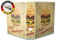 バインダー 2 Ring Binder Lever Arch Folder A4 printed Hamburger cheeseburger