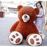 NOVA ぬいぐるみ 特大 くま クマ 熊 テディベア 抱き枕 クッション かわいい だきまくら お祝い プレゼント (ダークブラウン, 100cm)