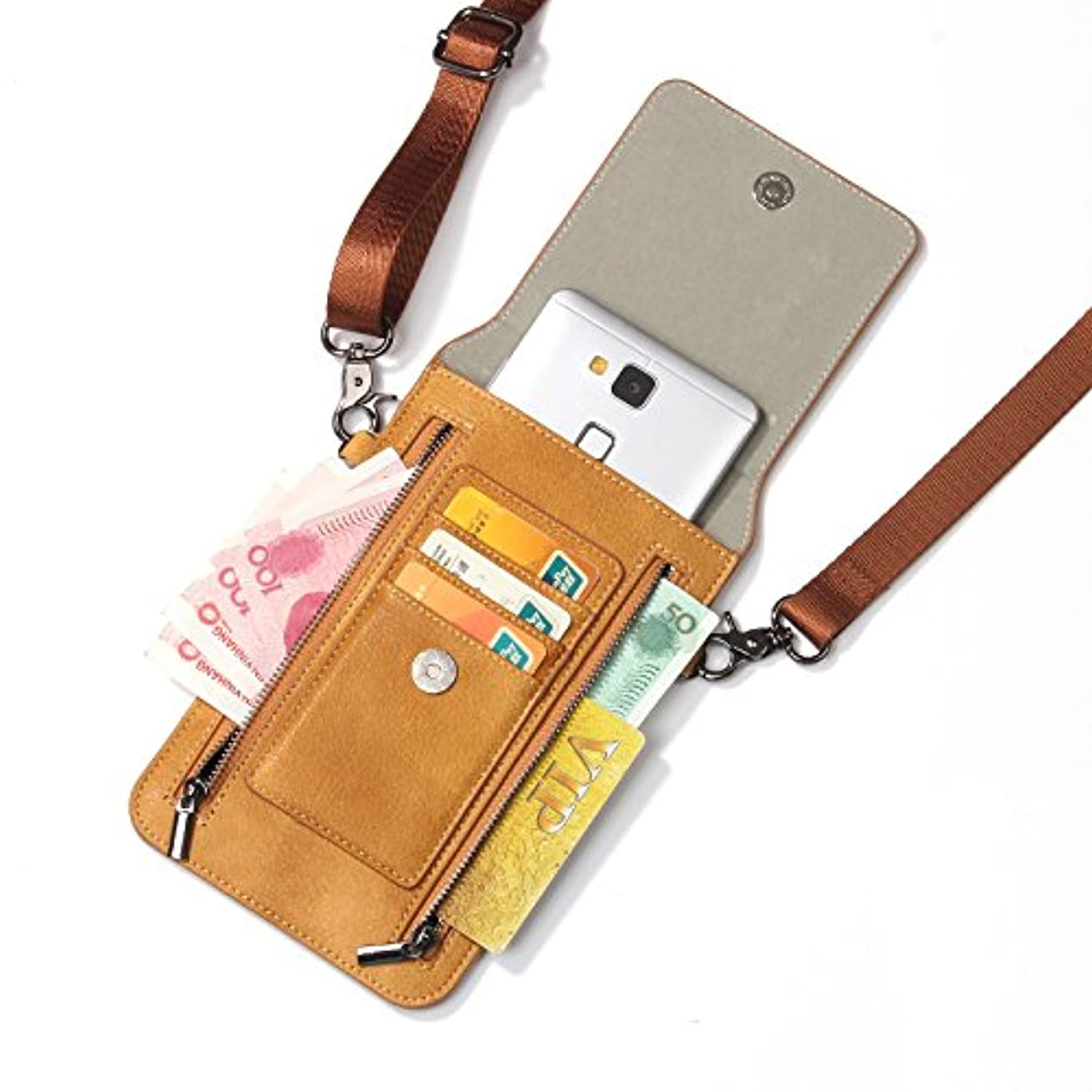 ムス掃く混合したiPhone XS Max ケース レザー INorton 多機能スマホポーチ 保護カバー 財布型 軽量 カード お金収納 ストラップ付き iPhone X /8/8Plus/7/7Plusなど6.5インチ汎用