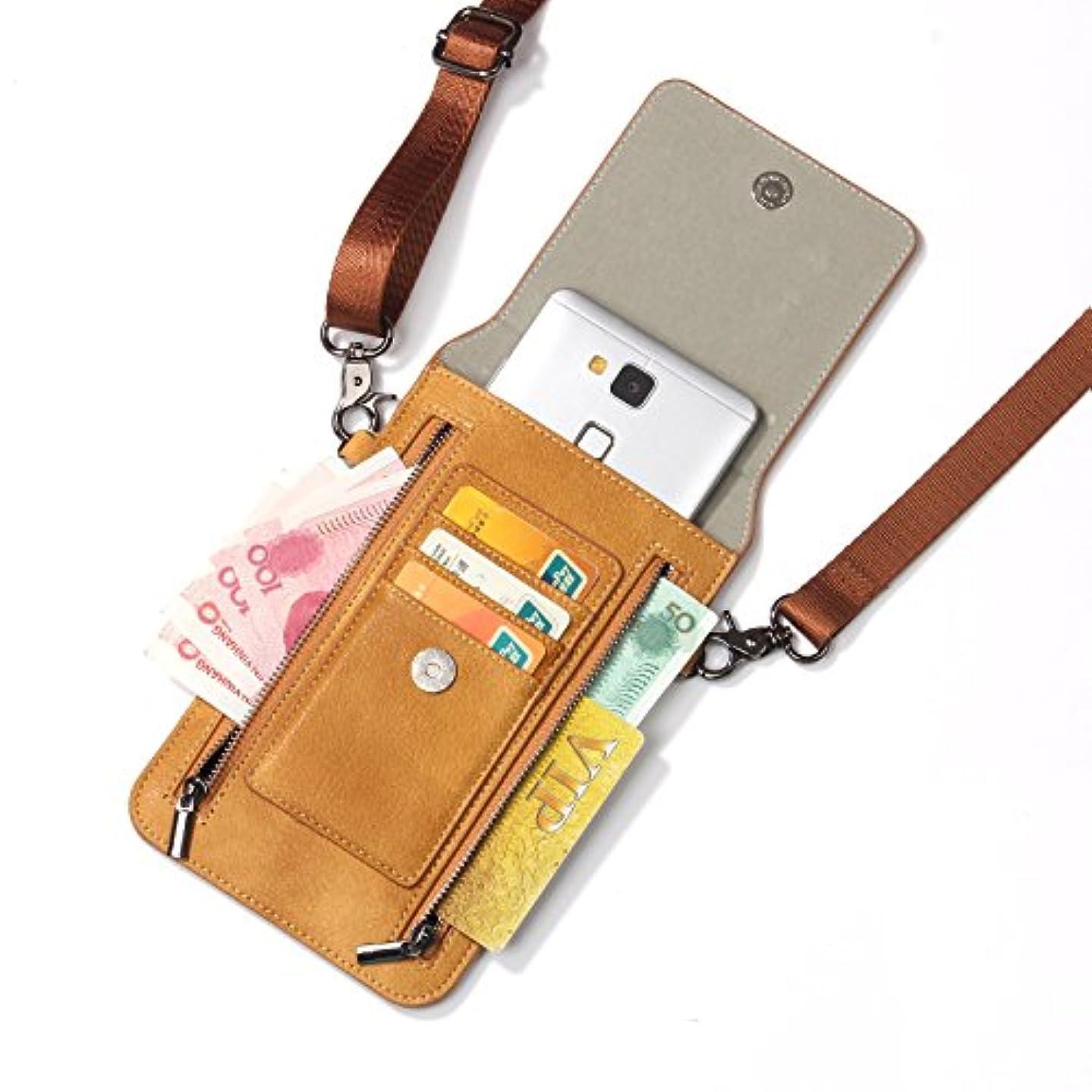 比べるデイジー顎iPhone XS Max ケース レザー INorton 多機能スマホポーチ 保護カバー 財布型 軽量 カード お金収納 ストラップ付き iPhone X /8/8Plus/7/7Plusなど6.5インチ汎用