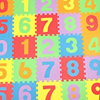 YiyiLai 子供 プレイマット 組み合わせマット カラーマット フロアマット 赤ちゃんマット キッズカーペット部屋用にも 数字10枚