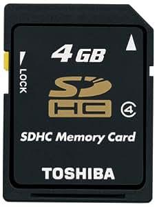 【Amazon.co.jp限定】TOSHIBA SDHCメモリカード Class4 4GB SD-AH04GWF [フラストレーションフリーパッケージ(FFP)]