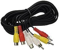 電子マスターコネクタ2X3mm R / Bスピーカーケーブル12ft(2パック/オーダー)、ブラック(EM741051B)