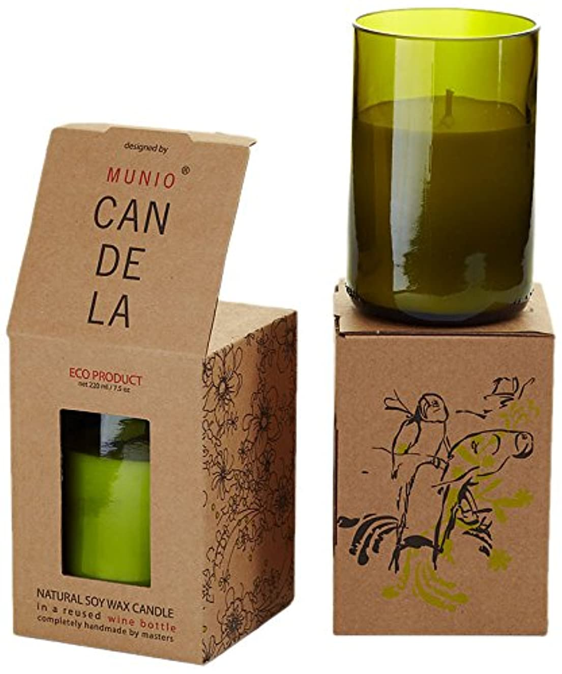 あいまいさ葉を拾う鋼ソイワックス リユーズド ワインボトル キャンドル ジンジャータンゴ