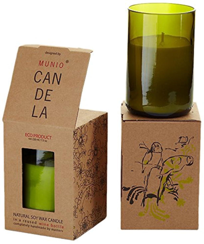 古風な文字皮ソイワックス リユーズド ワインボトル キャンドル ジンジャータンゴ
