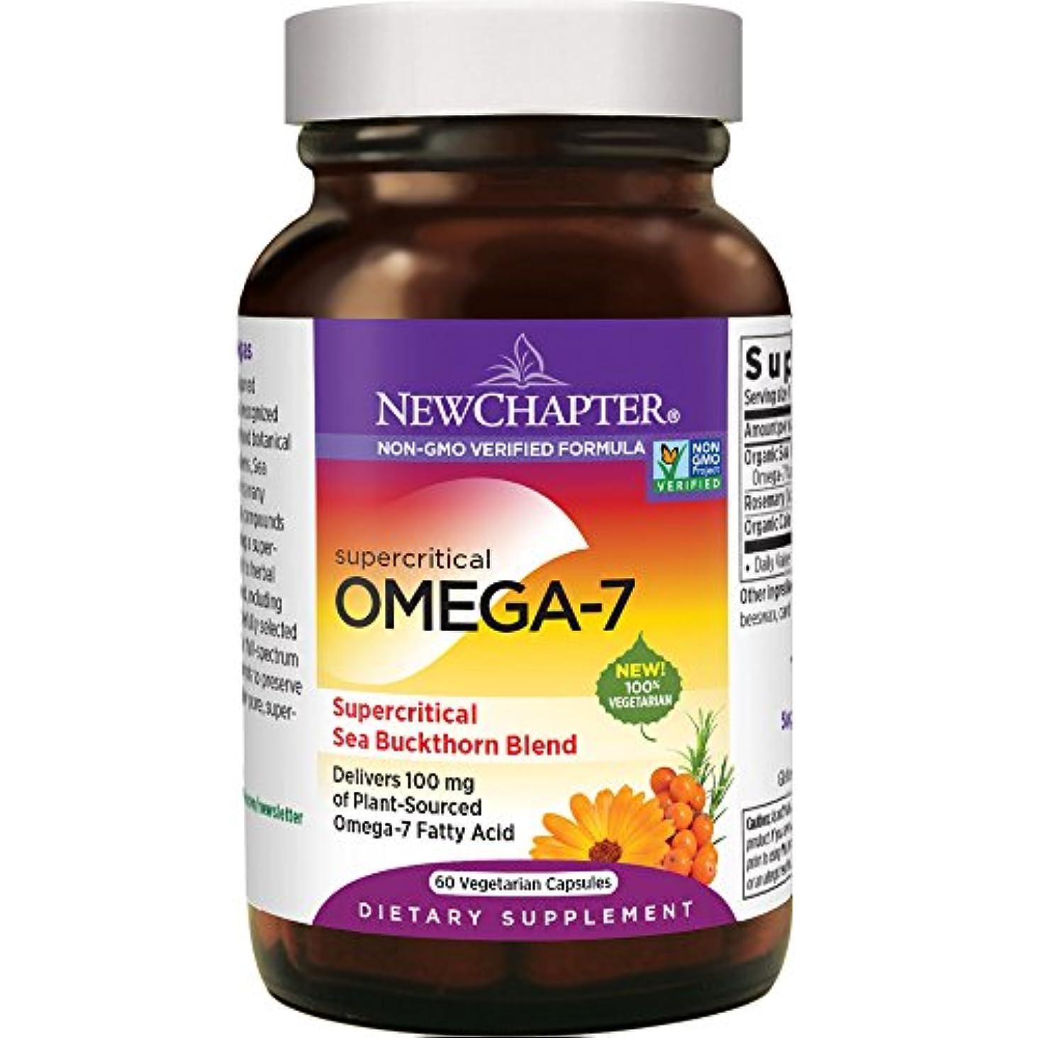 上げる工業用誤って海外直送品Supercritical Omega 7, 60 Softgels by New Chapter