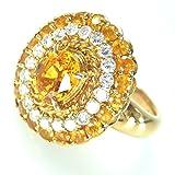 リング・指輪 11.3g K18/ダイヤモンド/ゴールデンサファイア ゴールデンサファイア ダイヤモンド 16号 レディース 中古