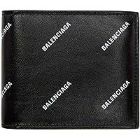 (バレンシアガ) Balenciaga メンズ 財布 Black All Over Logo Wallet [並行輸入品]