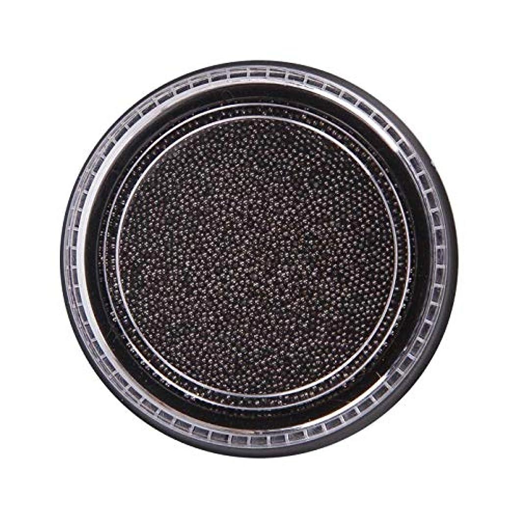 宿タイプライター軌道Wadachikis 素晴らしいネイル美容化粧ステンレス鋼ビーズアートアートシルバーローズゴールドキャビアDIYネイルビーズ装飾(None Black Boxes-Black)