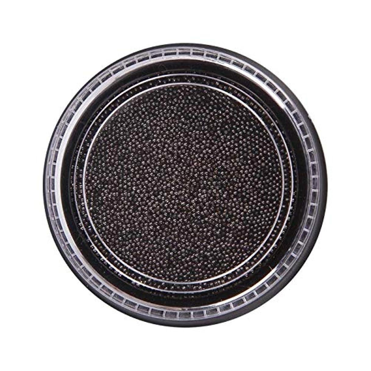 美しい徐々に弓Wadachikis 素晴らしいネイル美容化粧ステンレス鋼ビーズアートアートシルバーローズゴールドキャビアDIYネイルビーズ装飾(None Black Boxes-Black)