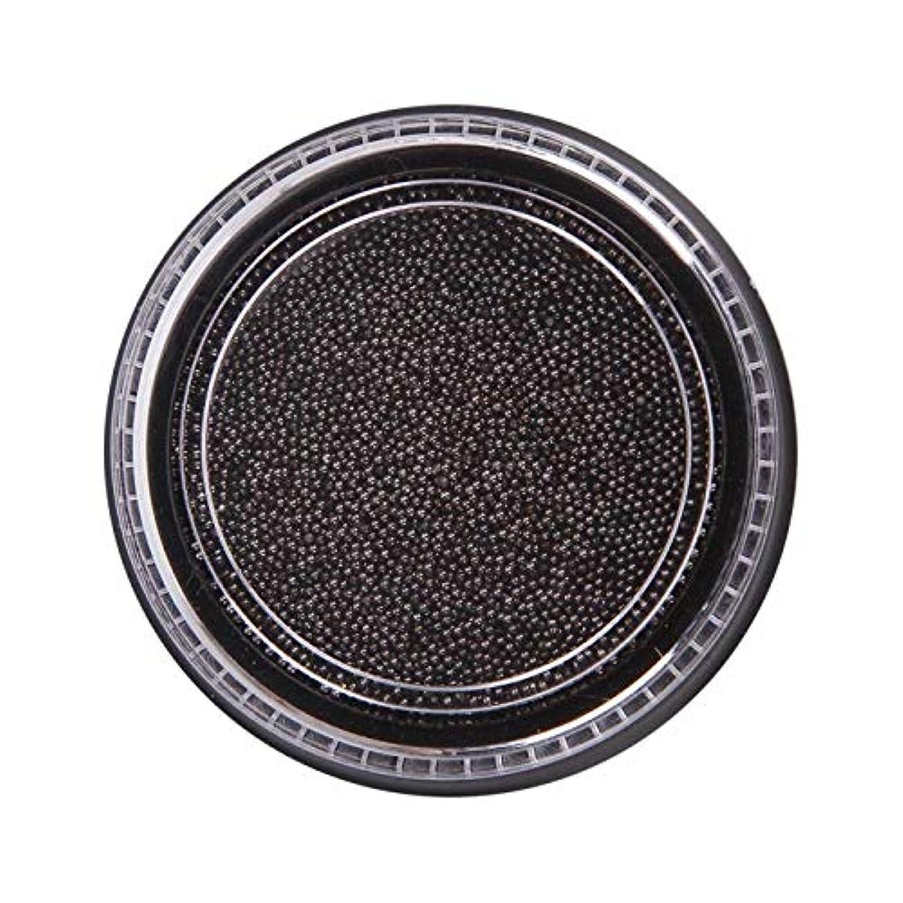 褐色楽しいカエルWadachikis 素晴らしいネイル美容化粧ステンレス鋼ビーズアートアートシルバーローズゴールドキャビアDIYネイルビーズ装飾(None Black Boxes-Black)