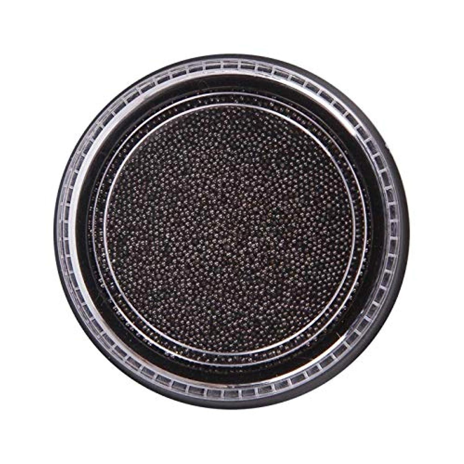 六分儀モール命題Wadachikis 素晴らしいネイル美容化粧ステンレス鋼ビーズアートアートシルバーローズゴールドキャビアDIYネイルビーズ装飾(None Black Boxes-Black)
