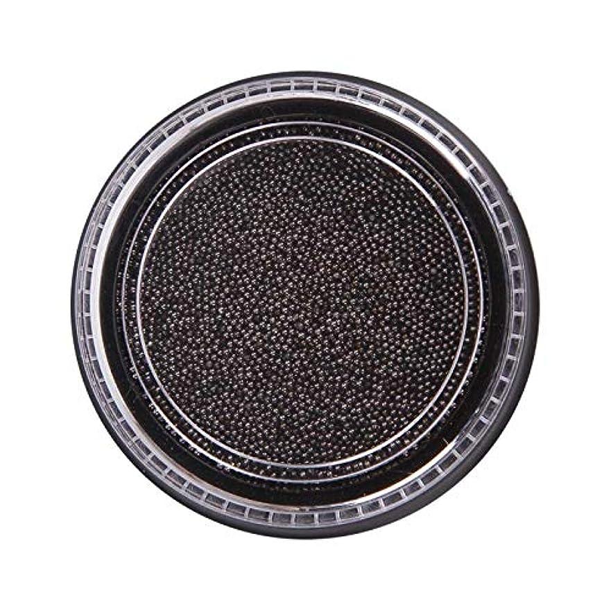 の間で不健全予定Wadachikis 素晴らしいネイル美容化粧ステンレス鋼ビーズアートアートシルバーローズゴールドキャビアDIYネイルビーズ装飾(None Black Boxes-Black)