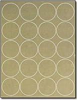 """Gold Foil 2"""" Round Labels for Laser Printers - 10 Sheets / 200 Labels [並行輸入品]"""