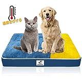 ペットベッド ペットマット ペットソファ スクエアベッド 犬用 猫用 ケージ用敷物 防寒 滑り止め 洗える 肌触りのよいフランネル使用 柔らかい 眠りクッション 寝心地がよい