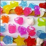 水に浮くすくい用おもちゃ ぷかぷかすくってリング集め(100個)【すくい用品 縁日】  21175