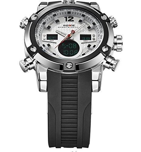腕時計メンズラグジュアリーブランドTopメンズArmy Military Watch Men 'sクオーツLEDデジタルレザーLED腕時計メンズスポーツウォッチRelojes