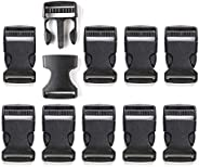 BEAUTY PLAYER Insertion Buckles, 1.3 inches (32 mm), Width, 10 Pieces, Side Release Buckles, Straps, Backpack,