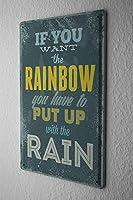 [ZUNYI]ブリキ看板 ことわざ虹 室内装飾家、パブ、ビール、ガレージ、庭、コーヒー、寝室、リビングルーム[20X30CM]