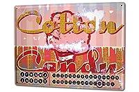 カレンダー Perpetual Calendar Holiday Travel Agency M.A. Allen candy floss Tin Metal Magnetic