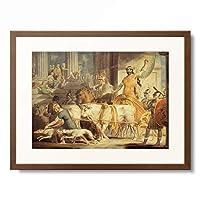 エドワード・デイズ Edward Dayes 「Lycurgus Entering Athens and Theseus's Approach to Athens.」 額装アート作品