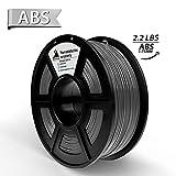 3D Hero ABS3Dプリンター用フィラメントABS 銀色(グレー、光沢のある表面)、1 KG、1.75 mm、無臭、サイズ精度+/- 0.02 mm、3 Dプリンタ、3 Dペン、100%の新しい材料を保証する