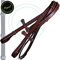 Royal Hunter Reins with Seven Hand Stoppers./ Vegetable Tanned Leather./ Stainless Steel Buckles.