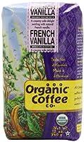 The Organic Coffee Company Whole Bean Coffee, French Vanilla, 12 Ounce