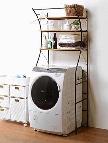 洗濯機ラック ランドリーラック ランドリー収納 幅75 おし...