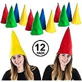 Felt Gnome Hats - Set Of Dozen Felt Gnome Hats In Assorted Colors