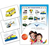 Transportation Flashcards in German Language - Flash Cards with Matching Bingo Game for Toddlers, Kids, Children and Adults - Size 4.13 × 5.83 in - DIN A6