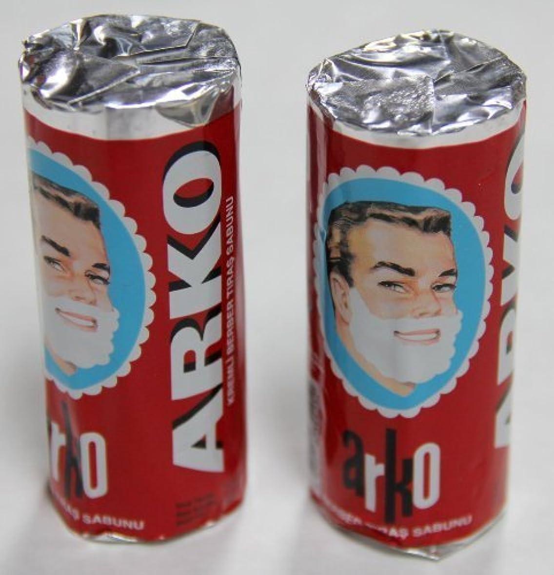 敷居ありがたい肺炎Arko Shaving Soap Stick White Pack of 2 75g each [並行輸入品]