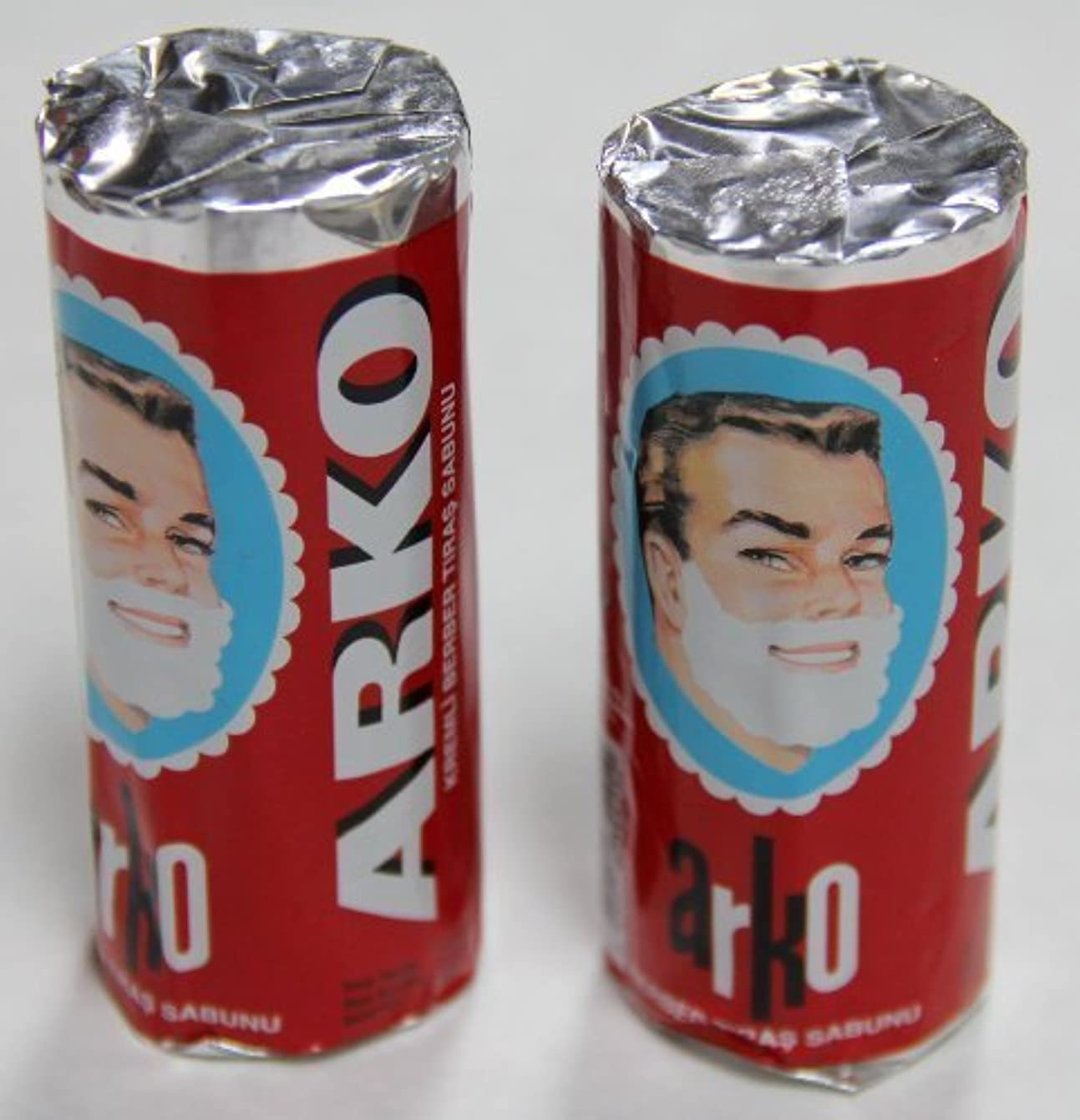 楕円形歌エラーArko Shaving Soap Stick White Pack of 2 75g each [並行輸入品]