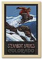 "NorthwestアートMall Steamboat Springsコロラドプロフェッショナルフレーム&マット特大サイズGicleeアートプリントbyポール・A Lanquist。 30""x45"" Print/34.5""x49.5"" with Frame PAL-7590 NFF-MF"