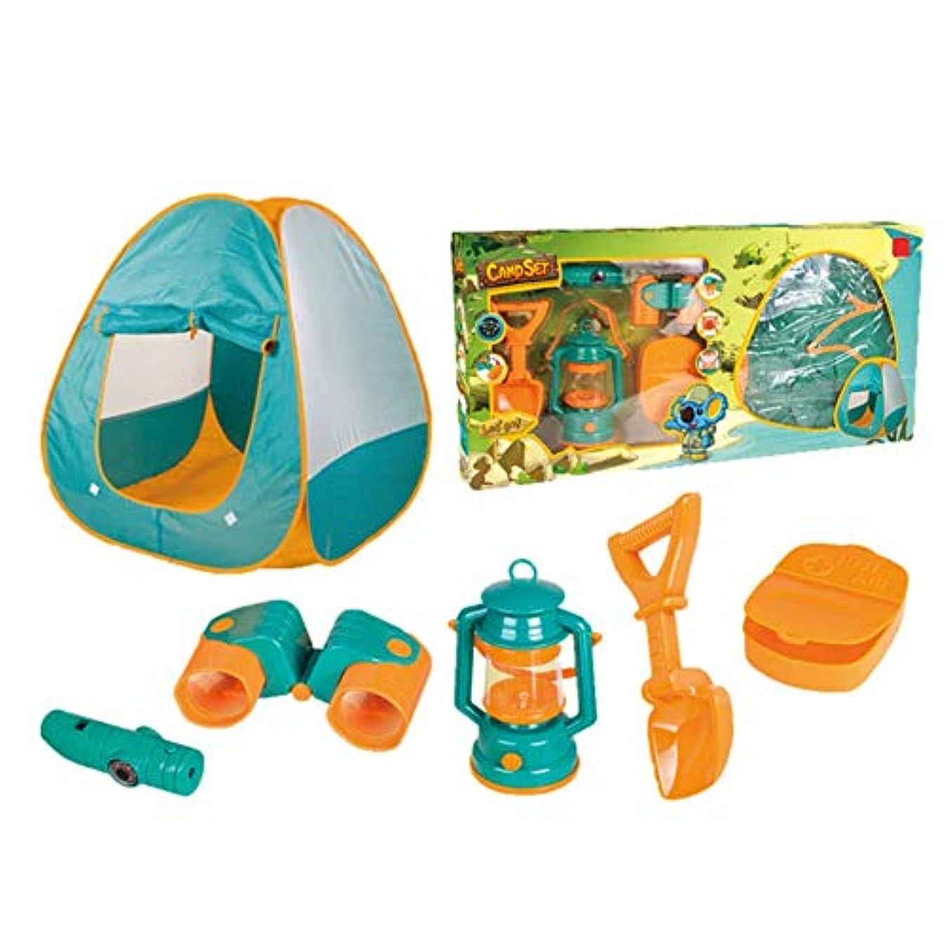 広げる失業者みがきます屋外ポータブルテント子供の組み立てられたキャンプテントセットワイルドビーチプレイハウスゲーム知育玩具