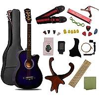 ギター 初心者 入門 アコースティック クラシックギター チューナーピックセット16点セット パープル