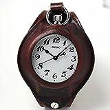 セイコー(SEIKO)鉄道時計SVBR003と懐中時計用 腕時計レザーベルト ブラウンのセット
