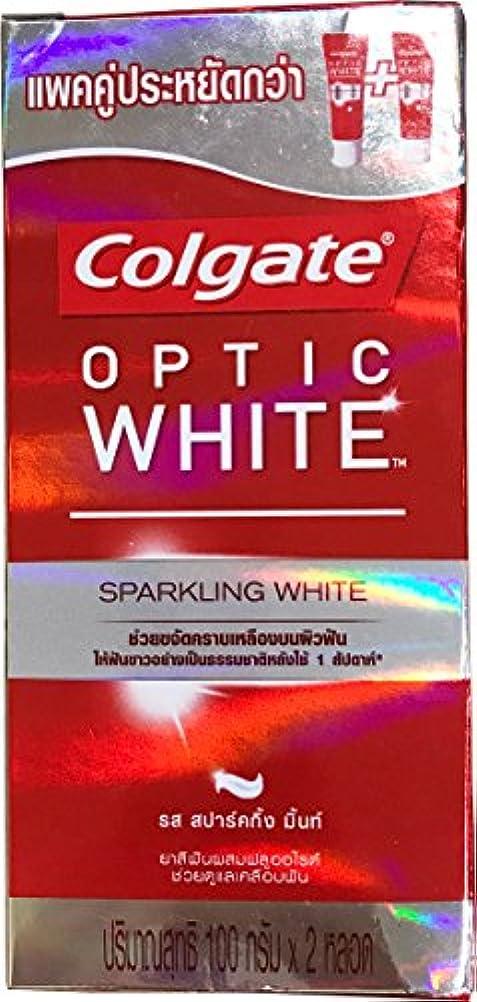 あいまい尊敬する誇張(コルゲート)Colgate 歯磨き粉 「オプティック ホワイト 」 (スパークリングホワイト) 2本セット